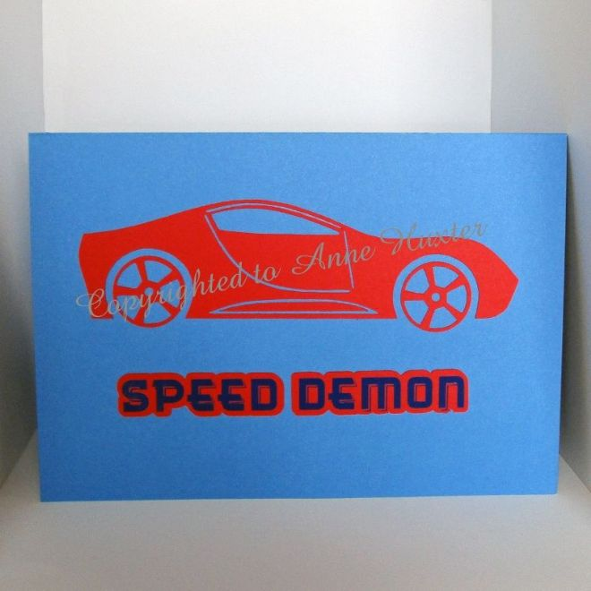 Sports Car Embellishment Template